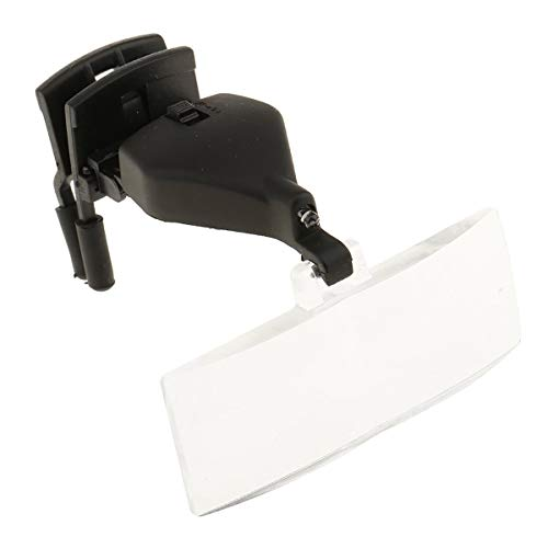 Moderne Loupe de Lunettes Magnifier 1.5X, 2.5X, 3.5X à Illumination pour Bijoutier Artisanat -