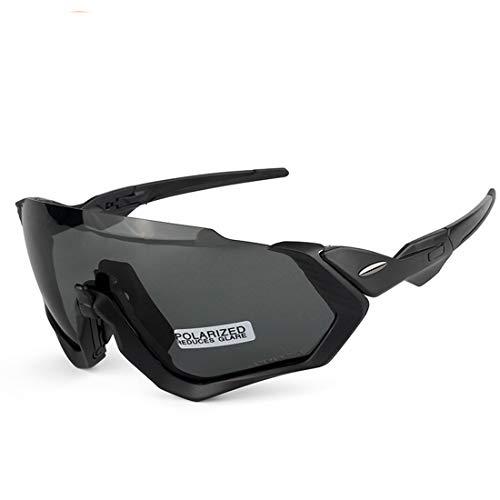 ZJXHAO Radgläser, polarisierte Sportsonnenbrille mit 3 austauschbaren Objektive UV-Schutz Unbreakable Driving Running Wandern Golf Baseball Fishing Biking-Gläser für Männer Frauen,Q2