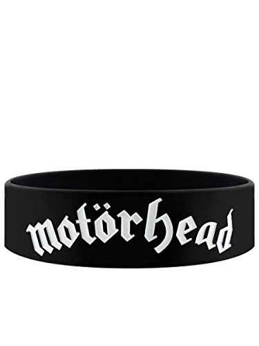 Motorhead Black Wristband Gummy Rubber Bracelet Band Logo Name Gift (Black Metal Music Band)