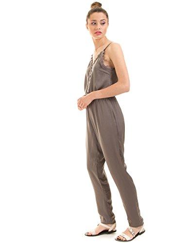 VILA CLOTHES Damen Vilany Jumpsuit, Grau (Granite Grey) - 3