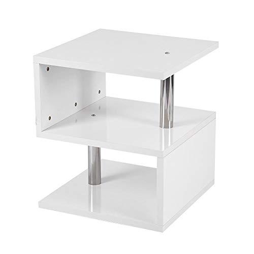 Zerone Tavolino da Salotto Moderno Lampade da Tavolo Multifunzionale Tavolino Salotto Basso Lampada Salotto Letto Divano Bianca in Truciolato