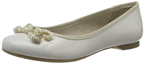 Marco Tozzi Damen 22109 Geschlossene Ballerinas Weiß (White Patent 123)