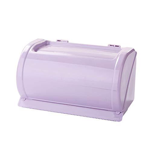 Toilettenpapierhalter ABS Ohne Bohren wandmontage Papierhalter Selbstklebend Wasserdicht Halter Rollenhalter-Lila
