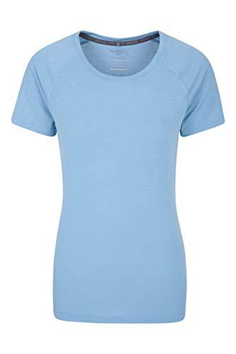 42f8b567c2b5a Mountain Warehouse IsoCool Technisches Damen-T-Shirt - Rundhals-T-Shirt,  Kurzarmhemd, Damenoberteil mit UV-Schutz, atmungsaktives T-Shirt - Ideal  für ...
