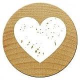 Woodies Mini Stempel Herzen, Holz, 1,5x 1,5x 3cm