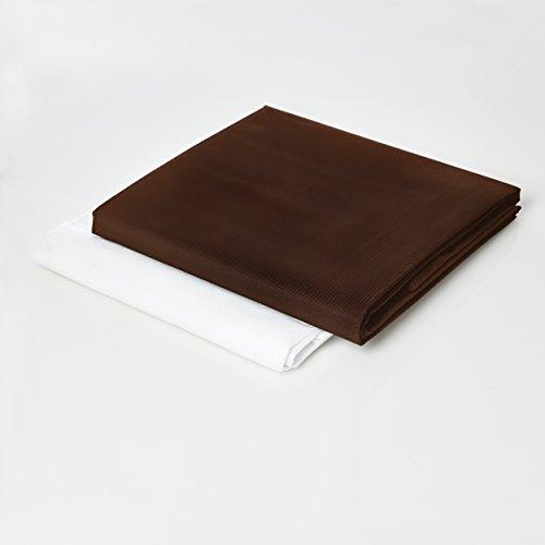Lumaland Sitzsackhülle ohne Füllung Luxury Riesensitzsack XXL Sitzsack Bezug Hülle PVC Polyester 140 x 180 cm Braun
