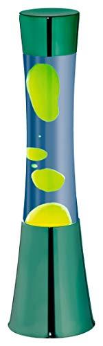 DBLV® Große Lavalampe Metall GRÜN GELB BLAU Glas 40cm Design