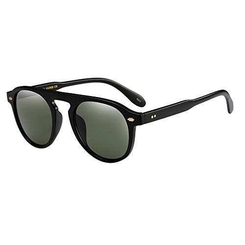 REALIKE Unisex Damen und Herren Klassische Gold Rund Farben Verspiegelt Sonnenbrillen Mode Übergroße Oversized Sunglasses Retro Mehrfarbauswahl Brille Travel Eyewear Brille