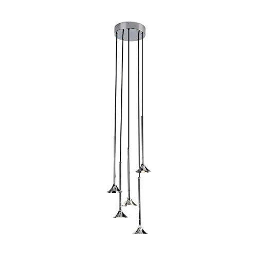 Grok by LEDS-C4 LED Pendelleuchte ALIVE 5 x LED CREE 35W CHROM IP20 | warmweiß | 00-5291-21-21 -