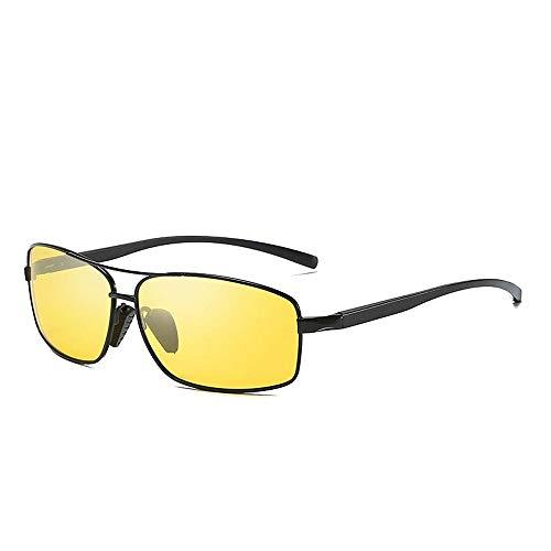 Easy Go Shopping Polarisierte Linse Wellington Sonnenbrillen Tasche Cross Set UnisexSonnenbrille Brille Sonnenbrillen und Flacher Spiegel (Color : Black+Yellow, Size : Kostenlos)