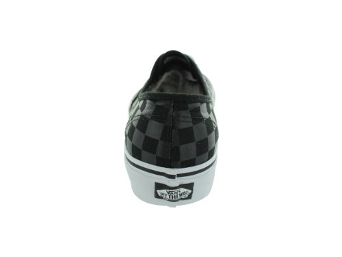 Vans Authentic, Baskets mode mixte adulte Damier Noir / Noir (Checkboard Black / Black)