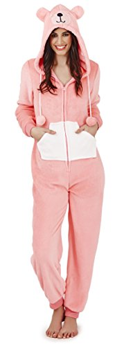 - 319T5bX00xL - Loungeable, Ladies Luxury Fleece Animal Onesie, Bernie The Bear, Large (UK 16-18)