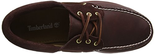 Timberland Classic 3 Eye Lug, Mocassini Uomo Rosso (Red (Port))