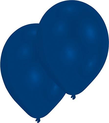 Amscan Luftballons Standard 50er Packung Royal-Blau 27 cm