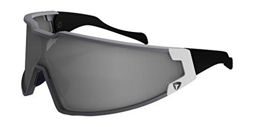 Briko Evoluzione Shot-Occhiali da ciclismo, unisex, colore: bianco/argento, taglia unica