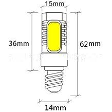 E11 E12 E14 bombilla de ahorro de energía Led Cob 7.5W 110 220V Bombilla Luz de maíz de maíz, E11 Luz Blanca
