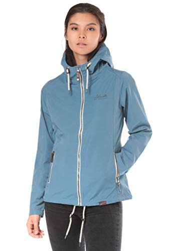 Lakeville Mountain Damen Übergangs-Jacke MONGALA Leichte Outdoor Funktionsjacke mit Kapuze Dünn & Atmungsaktiv Freizeit-Jacke für Frauen Sommer Herbst Parka Frühlings-Jacke Blue Heaven Blau XL