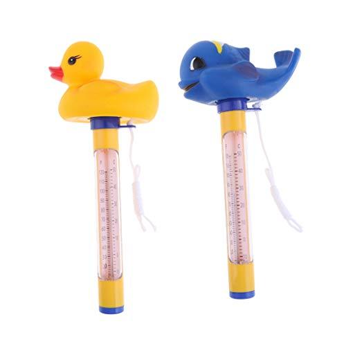 SM SunniMix 2X Schwimmbecken Thermometer Set Mit String Für Pools, Whirlpool