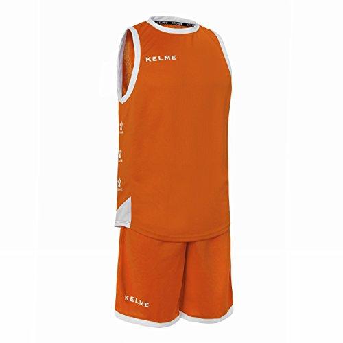 KELME 80803 Conjunto Equipaciones de Baloncesto, Niños, Naranja/Blanco, 8