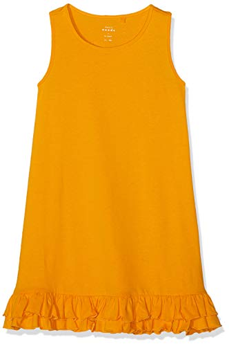 Name IT NOS Nkfvione Tank Dress Noos Vestido, Amarillo Cadmium Yellow, 122 para Niñas