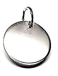 Colgante plata ley 925m 14mm. disco liso [AA8306GR] - Personalizable - GRABACIÓN INCLUIDA EN EL PRECIO