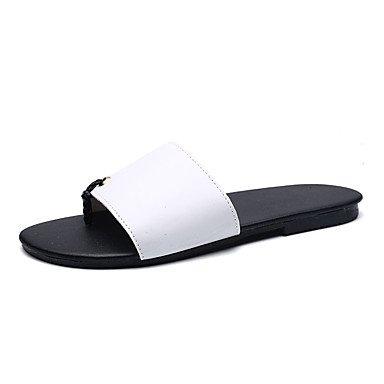 Chaussons & amp pour hommes, Été Lumière Soles PU Casual Noir / Rouge Noir / Blanc Sandales Noir Blanc sandales US8 / EU40 / UK7 / CN41