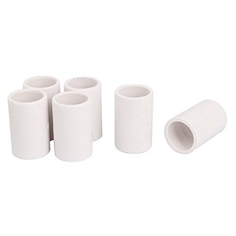sourcingmap® 20mm Tube tuyau eau potable tout droit raccord PVC-U Connecteur adaptateur 6pcs