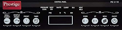 Prestige PIC 3.1 V3 2000-Watt Induction Cooktop with Touch Panel