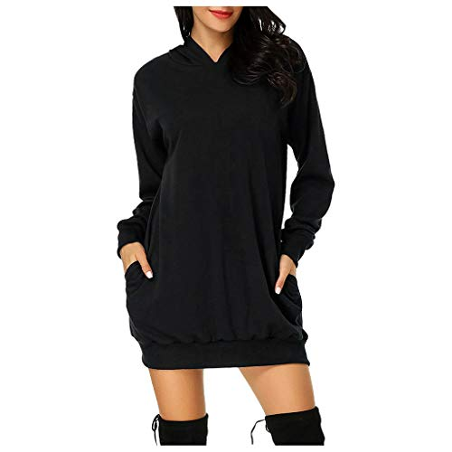 ➤Refill➤2020 Damen Hoodie Damen Langarm Sweatshirt Damen Langarm Hoodies Casual Herbst Kleid Kapuzenpullover Pullover Hoodie Lange Tops Jumper