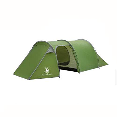 SSKD Outdoor Tunnel Tent, 3-4 People Double Awning, Outdoor Camping Hand Take Rain Tent