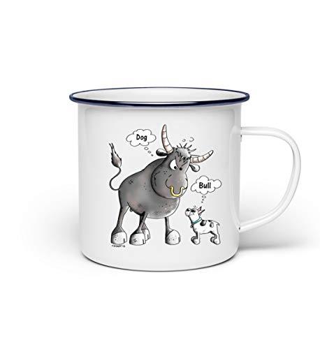 Bulle Vs. Französische Bulldogge Comic - French Bulldog - Hundemotiv Cartoon I Hunderasse - Emaille...