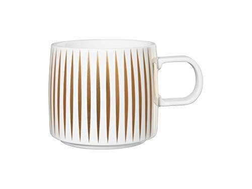ASA 29060425 Gobelet à anse en porcelaine Blanc/doré