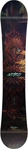 Nitro Snowboards Damen Mystique '19 fehlerverzeihendes und leicht zu kontrollierendes Girls All-Mountain Snowboard Gullwing Rocker Camber Directional Twin Board, Mehrfarbig, 142 -