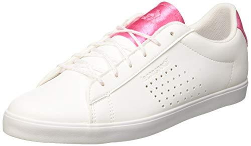 le coq Sportif Damen Agate Sneaker, Weiß (Optical White/Pink Carnation Optical White/Pink Carnation), 40 EU