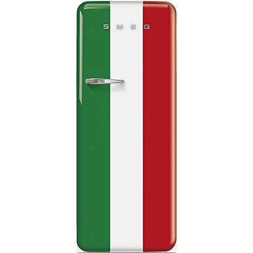 Smeg Glas-kühlschrank (Smeg FAB28RDIT3 Kühlschrank, freistehend, 270 l, A+++, freistehend, Grün, Rot, Weiß, rechts, 110 °, Glas, 270 l)