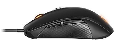SteelSeries Rival 100 Optische Gaming-Maus (6 Tasten, RGB-Beleuchtung) schwarz - 2