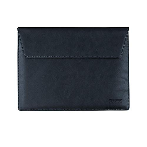 Business PU Leder Tasche Hülle Case Sleeve für Microsoft Surface Book 2 13.5 / Surface Pro LTE Advanced/Lenovo ThinkPad X1 Tablet G3 13 Lenovo Miix 520 Asus Transformer 3 12.6 Schwarz schwarz