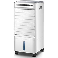 oanzryybz Mobile Petit climatiseur Domestique Petit Refroidisseur d'air réfrigérateur dortoir Ventilateur Froid humidificateur Mobile@Blanc_Contrôle à Distance