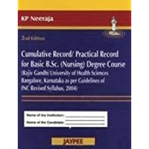 Cumulative Record/Practical Record For Basic Bsc (Nursing) Degree Course (Rajiv Gandhi University)