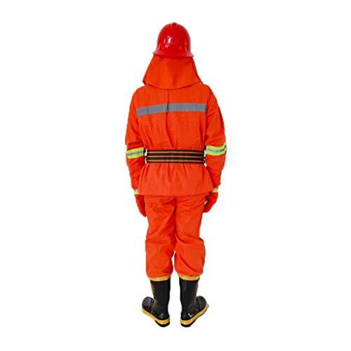 gz Spezielle Sicherheitsmaßnahmen 5-teilige flammhemmende Schutzkleidung - Persönlicher Schutz von Kopf bis Fuß,Einzelne Schicht,M