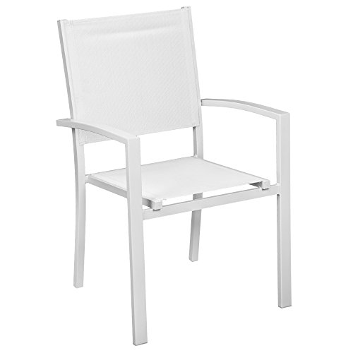 Sibrand evergreen poltrona sedia con braccioli in alluminio bianca arredo casa eg50592