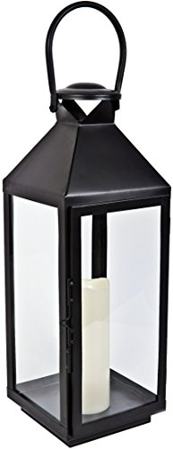 firefly-ffmlc52-52-cm-metal-lantern-chiswick-with-led-candle-black