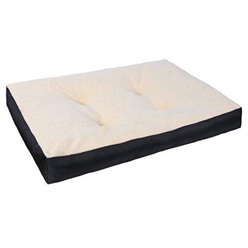 Woltu ht2063sz3 lettino per cani cucciolo gatti cuccia materassino letto divano cuscino per animali domestici tessuto oxford cotone interni morbido antiscivolo lavabile nero 90x70x10cm
