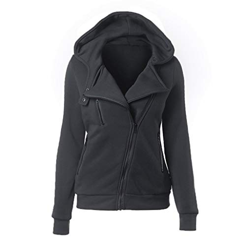 Kostüm Jemals Größte - Sweatshirt Damen Langarm Diagonal Zip Winter Solid Color Jacke