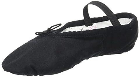 SANSHA 15C STAR-SPLIT Chaussure de danse Demi-pointes pour AdulteS en Toile - Femme - Noir - 26 EU (Taille Fabricant: C)