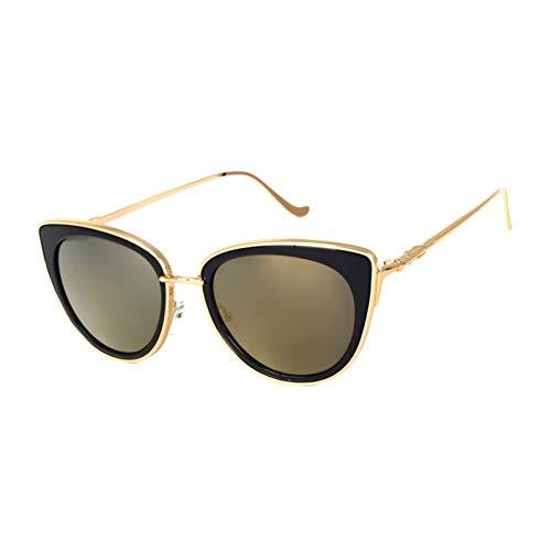 SYQA Sonnenbrille Metallrahmen Katzenauge Frauen Sonnenbrille Weibliche Sonnenbrille Legierung Beine Brille,C2