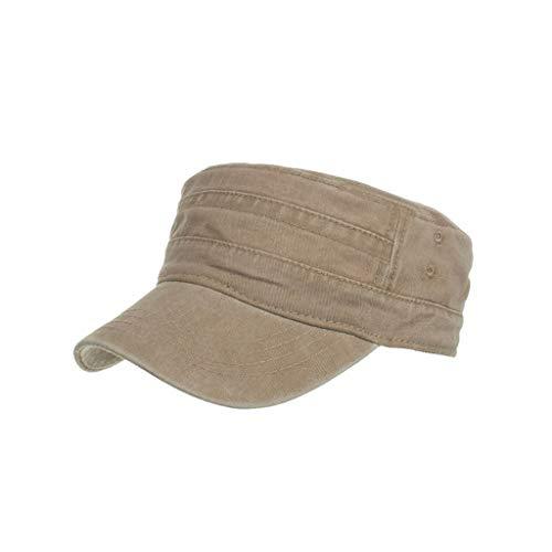 2019 Moda Gorra algodón Lavado Caps Militares Cadete