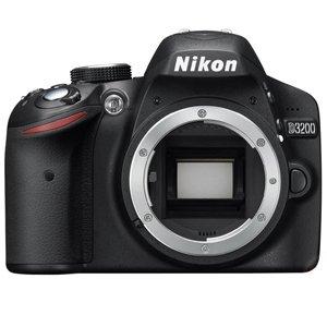 Nikon D3200 24.2MP Digital SLR Camera (Black) Body Only, 8GB Card, Camera Bag