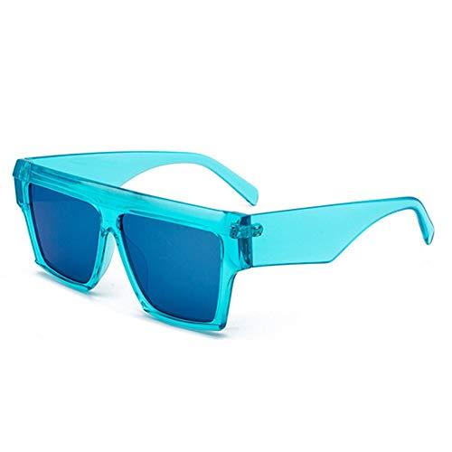 Hotaden Herren Oversized Flat Top Square Sonnenbrille Aviator Sonnenbrille Vintage Strand Sommer UV-Schutz Sonnenbrille Gr. Einheitsgröße, C3