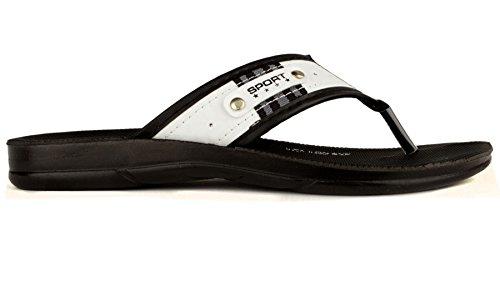Gezer 'Voyager' Homme Sportif Flip Flops Sandales Blanc